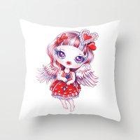 valentina Throw Pillows featuring Valentina by Sandra Vargas