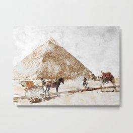 Pyramid of Khafre, Egypt Metal Print