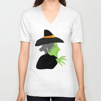 witch V-neck T-shirts featuring Witch by Jessica Slater Design & Illustration
