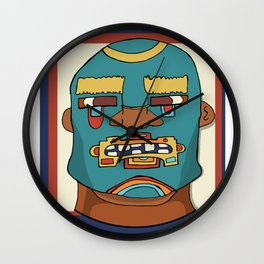 Lucha Mucha guy Wall Clock