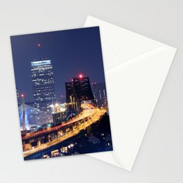 Driving to Boston Stationery Cards