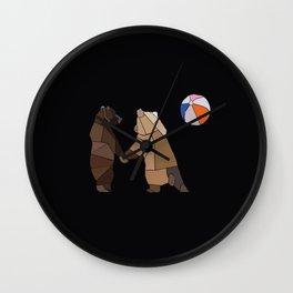 Puckish Bears Wall Clock