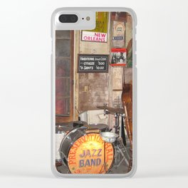 Jazz Band Stage Clear iPhone Case