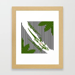 Jungle background Framed Art Print
