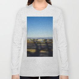 Tree shadow on road Long Sleeve T-shirt