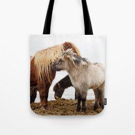 Iceland horses Tote Bag