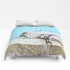 white horse 0186 Comforters