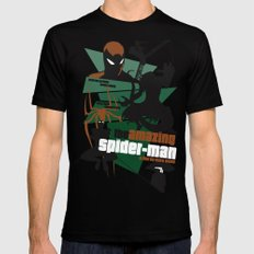 Amazing Spider-man Poster Mens Fitted Tee LARGE Black
