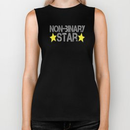Non-Binary Star Biker Tank