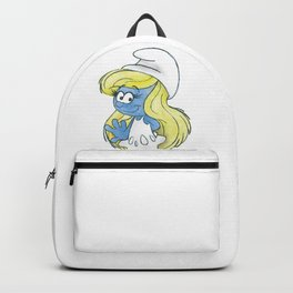 Watercolour Smurfette Sketch Backpack