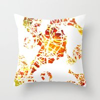 sea horse Throw Pillows featuring Sea-Horse by LIGHTNING9