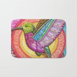 Stitched Hummingbird Bath Mat