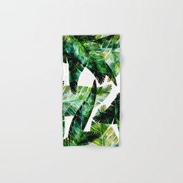 Green leaves of a banana. 2 Hand & Bath Towel