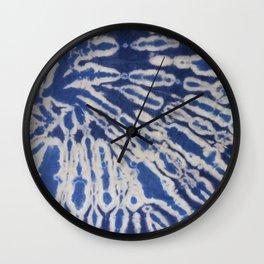 Shibori #1 Wall Clock