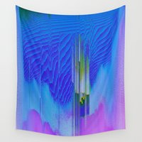 waterfall Wall Tapestries featuring Waterfall by DuckyB