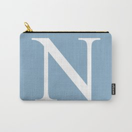 Letter N sign on placid blue background Carry-All Pouch