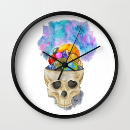 space in my head Wall Clock