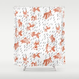 Rainy Fish Shower Curtain