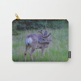 Mule Deer scratching an itch in Jasper National Park Carry-All Pouch