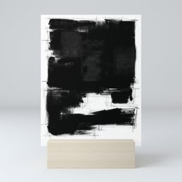 Black white theme #15a Mini Art Print