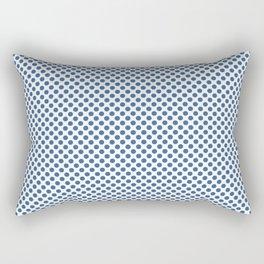 Star Sapphire Polka Dots Rectangular Pillow