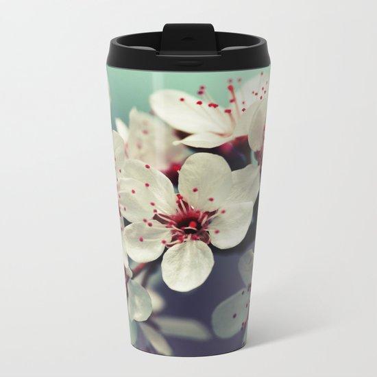 Cherry Blossom, Cherryblossom, Sakura, Vintage Style Metal Travel Mug