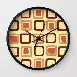 Mid Century Modern Squares Wall Clock