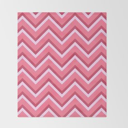 Pink Zig Zag Pattern Throw Blanket