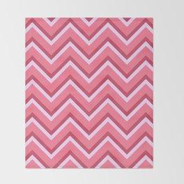 Pink Zig Zag Pattern Throw Blanket