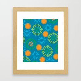 Spikey Flower Calm Framed Art Print