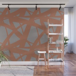 Cavern Clay SW 7701 Abstract Mosaic Pattern 3 on Slate Violet Gray SW9155 Wall Mural