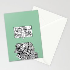 the man the monster Stationery Cards