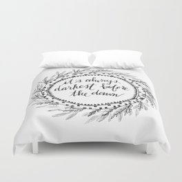 Darkest Before the Dawn Duvet Cover