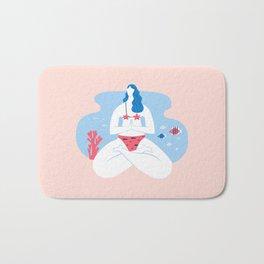 Yoga Girls 2 The She Lotus Pose Bath Mat