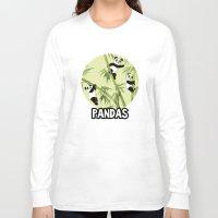 pandas Long Sleeve T-shirts featuring Pandas by Volha