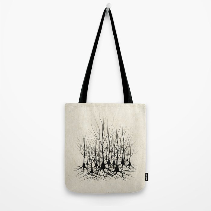 Pyramidal Neuron Forest Tote Bag