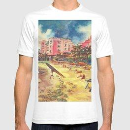 Hawaii's Famous Waikiki Beach landscape painting T-shirt