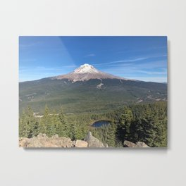 oh hello Mount Hood Metal Print