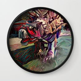 Dinosaurus painting Wall Clock