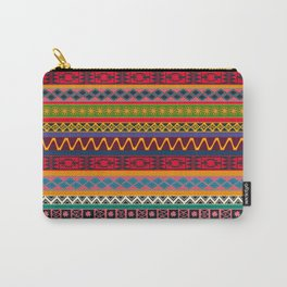 African pattern No4 Carry-All Pouch