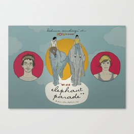 Promotional Poster for the band Elephant Parade Canvas Print