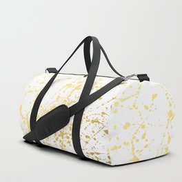 Splat White Gold Duffle Bag