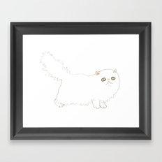 White Persian Cat Framed Art Print