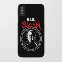 sagan iPhone & iPod Cases featuring HAIL SAGAN by Normal-Sized Deet