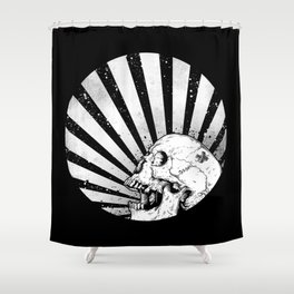 Kamikaze Skull Shower Curtain