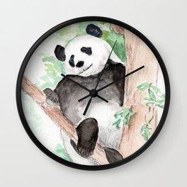 Panda, Hanging Out Wall Clock