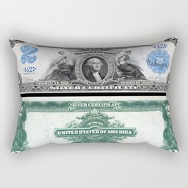 1899 U.S. Federal Reserve Two Dollar Bank Note Silver Certificate Rectangular Pillow
