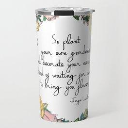 Flower bucket Travel Mug