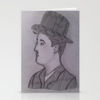 charlie chaplin Stationery Cards featuring Charlie Chaplin by Natasha Lake