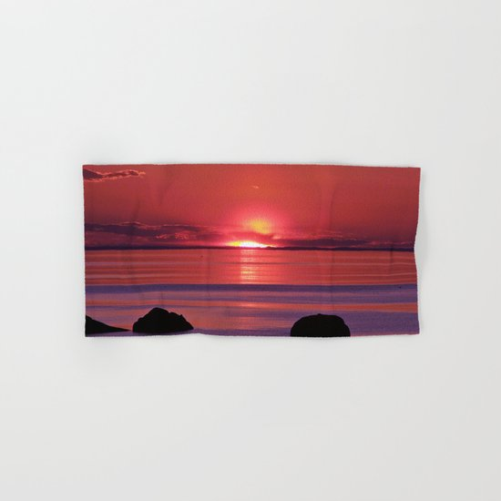 Sunset Ripples Hand & Bath Towel